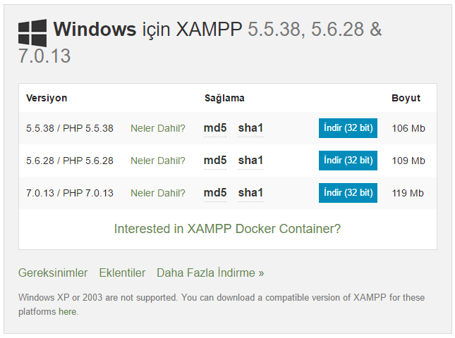 xamp_download